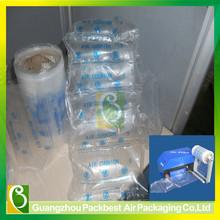 degradable 20x20cm inflatable logo printed air cushion PE plastic Film and air cushion packaging void fill machine
