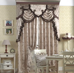 New Arrival european style polyester jacquard finished curtain