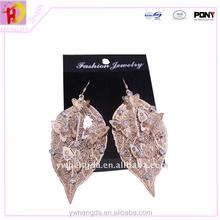Multi bright color alloy leaf butterfly earrings. earrings