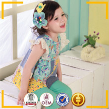Japan baby clothes wholesale 90-120cm fashion summer girls t shirt
