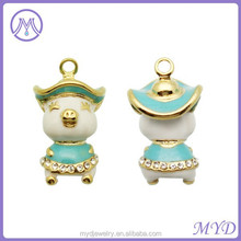enameled metal gold plated charms wholesale for charms bracelet Jewelry