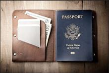 2016 Advance sale 100% top good genuine cow hide leather passport holder