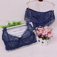 Cool for Summer Ultra-thin Sexy Bra and Panty Lace and Steel Ring For Ladies