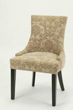 nailhead disign fabric wood dinning chair/high back restaurant chair(KY-3036)