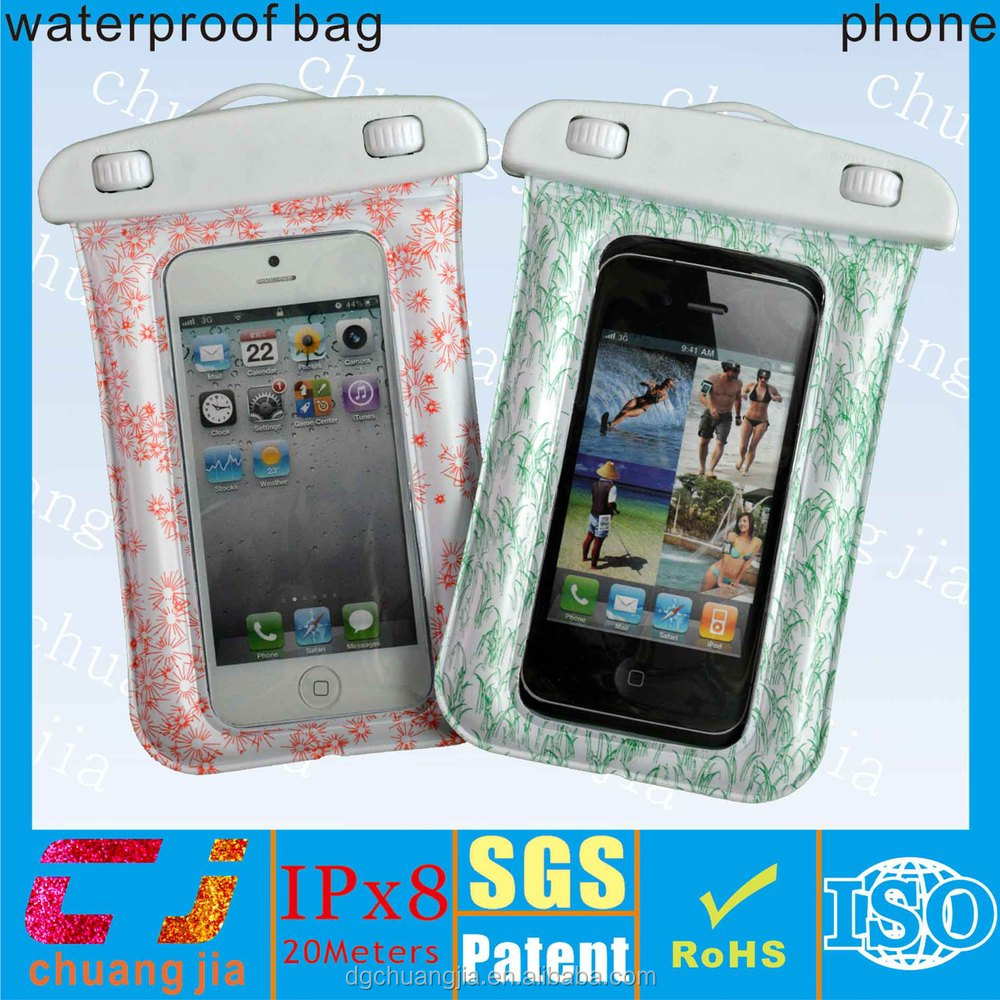 Wholesale waterproof bag for cell phone with ipx8