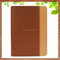 ebay hot sell wood waterproof case for ipad mini leather case