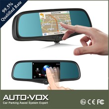OEM design 5 inch bluetooth camera rear view mirror gps