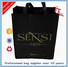 2015 alibaba China most favorate non woven wine bag with 6 bottles