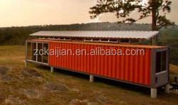 prefab modern steel cabin/hotel sleep box/20 flat pack container home