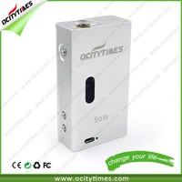 Unique design and factory price!!!electronic cigarette Pandora 50w box mod starter kit vv vw mod