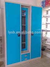 Waterproof Changing room storage Bedroom wall steel double door wardrobe/bedroom almirah designs