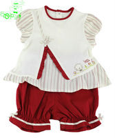 baby clothing set pure cotton top and pants OEM fashion apparel manufacturer & garment supplier brand name child clothes factory