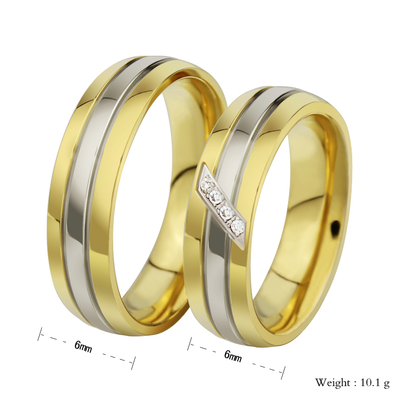 High Quality CZ diamond couple rings for men women wedding