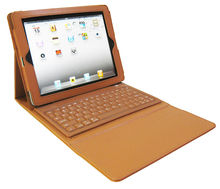 Pu Case with Silicone keyboard for ipad 2