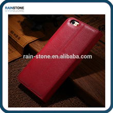 High quality pu leather case for iphone 6 plus wallet leather case