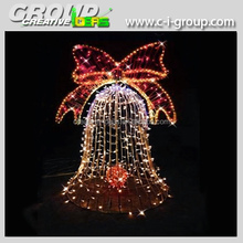 24v christmas lighted bell decoration,large outdoor Christmas Bell decoration
