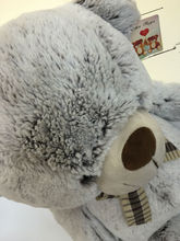 "Smile Bear Giant Plush Toy Teddy Bear 62.9"" Color Light Dark Brown White brown colored light bulbs"