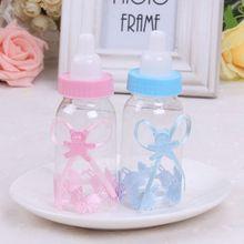 Milk bottle shape clear plastic candy box baby shower favors