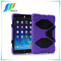 for ipad 5 air covers skin protection stand shockproof back case purple