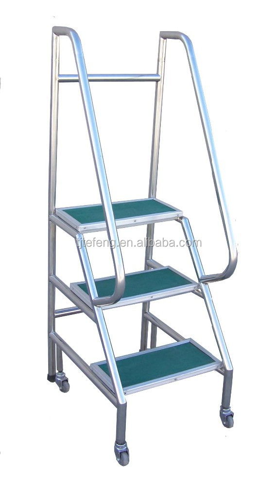 Safety Steps With Handrail Steel Safety Step Ladder With