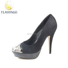 FLAMINGO 2015 LATEST ODM OEM new sign platform women high heel closed toe shoes new women shoes 2015