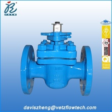 1 in Class150 flanged end fire safe anti-static blow out proof stem PTFE sleeved plug valves