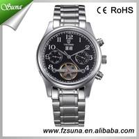 Promotional Watch For Man Calendar, Week, Month Zones Watch Skeleton Man Wristwatches