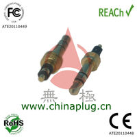 Threaded type 3.5mm audio cable connector