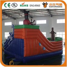 Hot selling top sale fire truck inflatable slides for wholesale