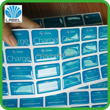 Custom decorative clear epoxy resin sticker