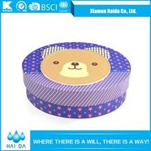 Cartoon Pattern Printed Handmade Paper Packaging Round Gift Box