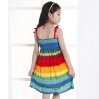 d20361f 2015 summer new colorful rainbow dress for children