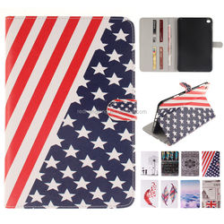 Printing Pattern Magnetic Stand Folio Tablet PU Leather Case Wallet Case for iPad mini 4