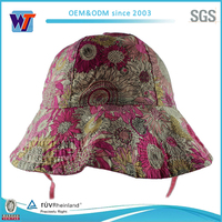 Pretty color pink custom tie dyed bucket hat