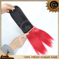 New products 2015 ombre hair weave silky straight colored two tone brazilian human hair weave