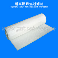 temperature resistance air filter media flame retardant air pre filter cotton