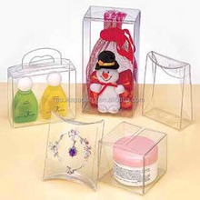 Factory price hot sell small clear printed plastic PET/PVC/PP packaging boxes for gifts