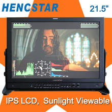 21.5 inch SD/HD/3G-SDI Broadcast Monitor, IPS LCD panel, Sunlight Viewable, Video+DVI+VGA, Support Wavefrom, VESA mount/Desktop