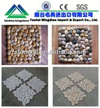 snow white pebble and dark red polishing pebbles SALES stone paver LOWEST