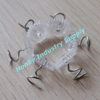 Clear color Twisted upholstery pins for bed shirt plastic head