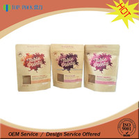 Laminated Material Brown Kraft Paper Bag With Window For Food Packaging