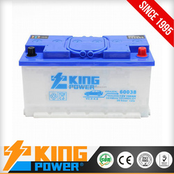 12V Dry charge car battery 88AH KING POWER brand DIN88
