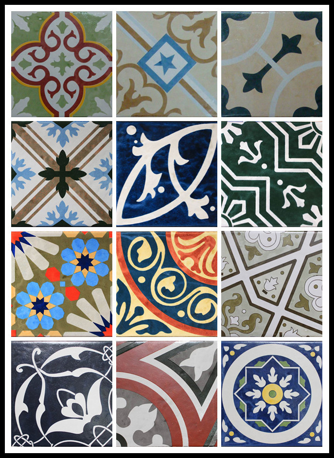 200x200mm artista hecho a mano decorativo azulejo de porcelana-Alicatados ...
