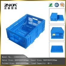 wholesale high quality Foldable feature plastic storage baskets with lid