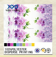 100% Polyester Pigment Printed Fabric with Flower Design for Bedding