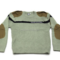 Wool/ Acrylic/Spendex Military Pullover Sweater