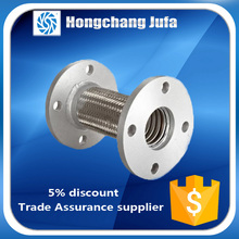Iron and steel industry flange joint braided metallic pipe