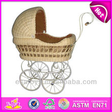 2015 rattan doll pram toy for kids,Girl toy popular wooden doll pram toy for children,good quality doll pram for baby WJ278228