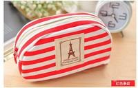 Best price fresh Navy Style Travel Cosmetic Bag Makeup Case Pouch Toiletry Zipper Pen Case 100pcs