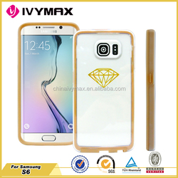 For Samsung Galaxy S6 case newest ultra thin clear TPU+PC case